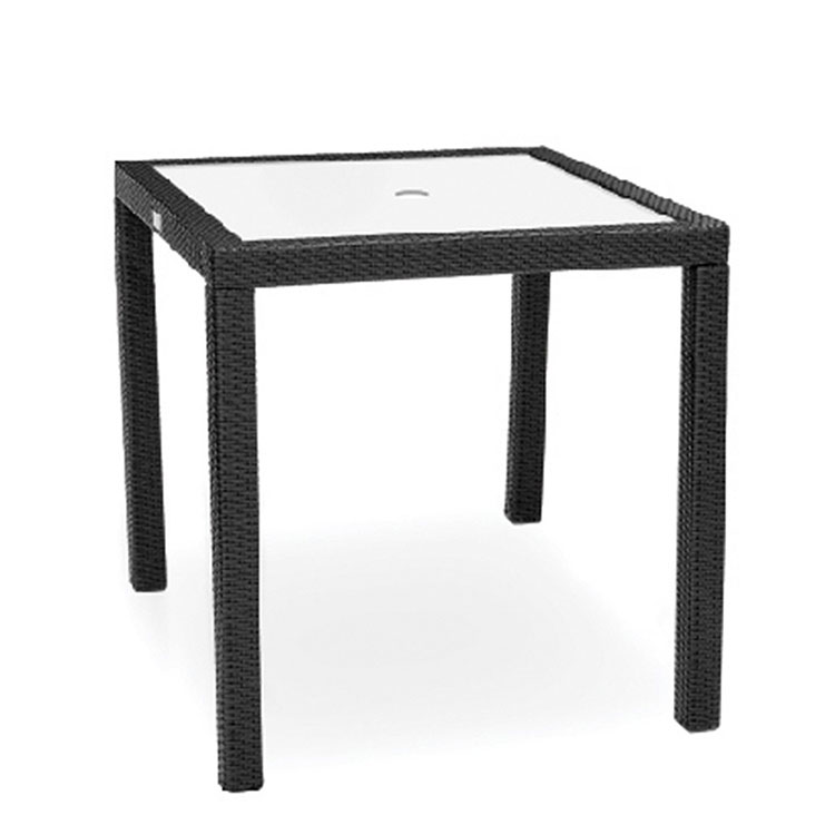 Kannoa Aria Counter Height Table With Tempered Glass Top
