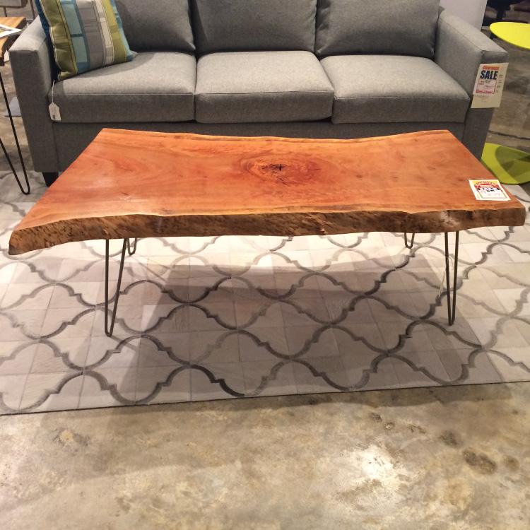 Pink Eucalyptus Live Edge Coffee Table - DoMA Home Furnishings