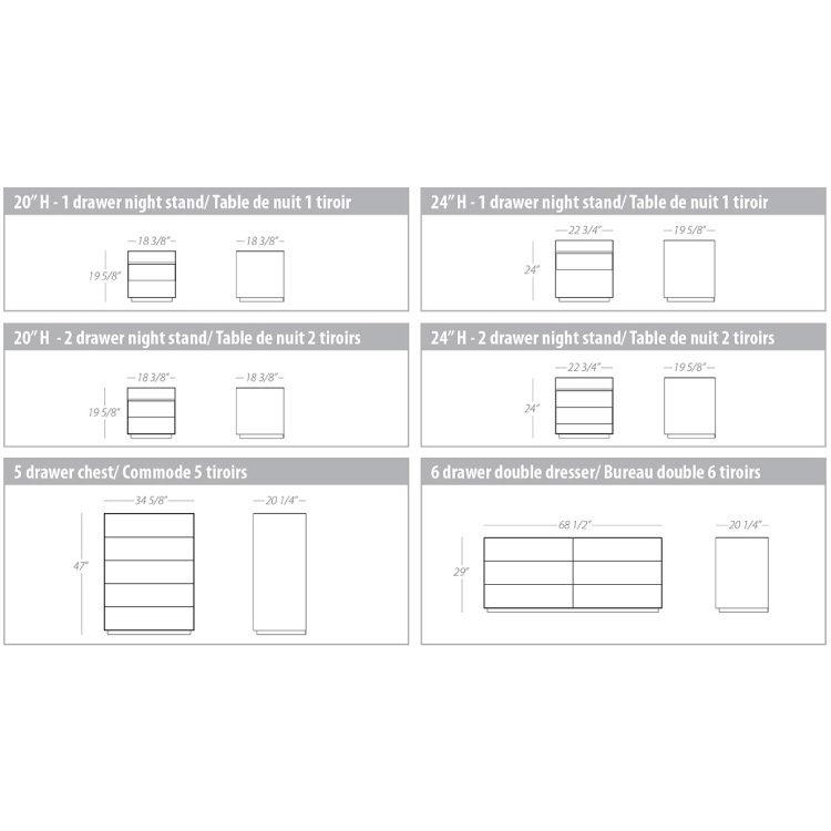 Boulevard Bedroom Specification Sheet