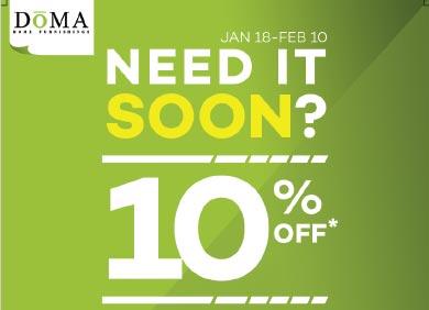DoMA's Need It Soon Sale