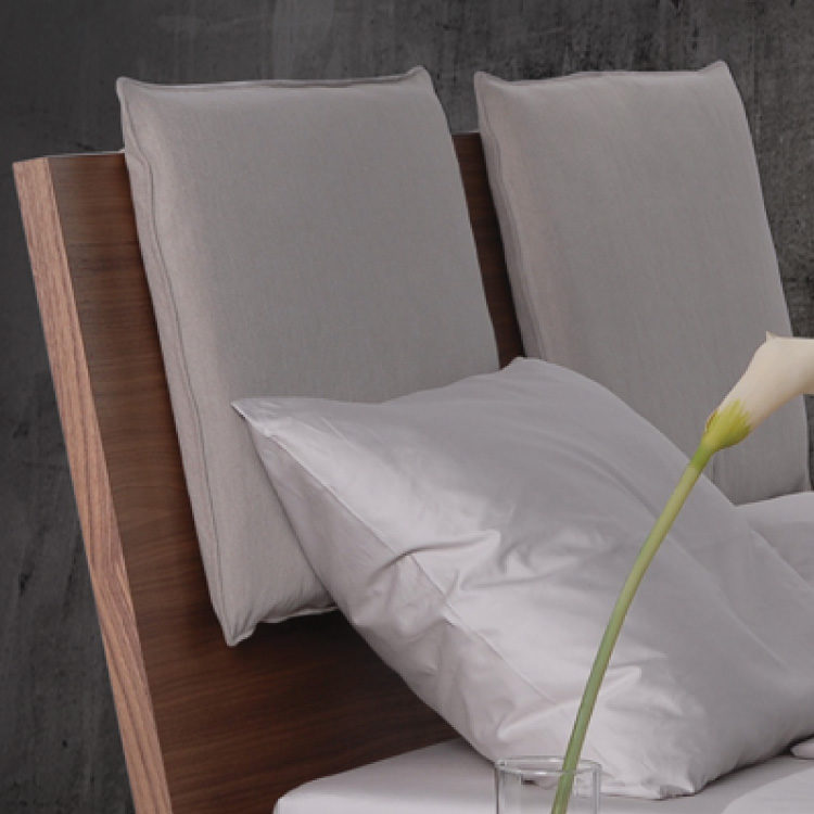City Bed by Trica - optional pillow headboard