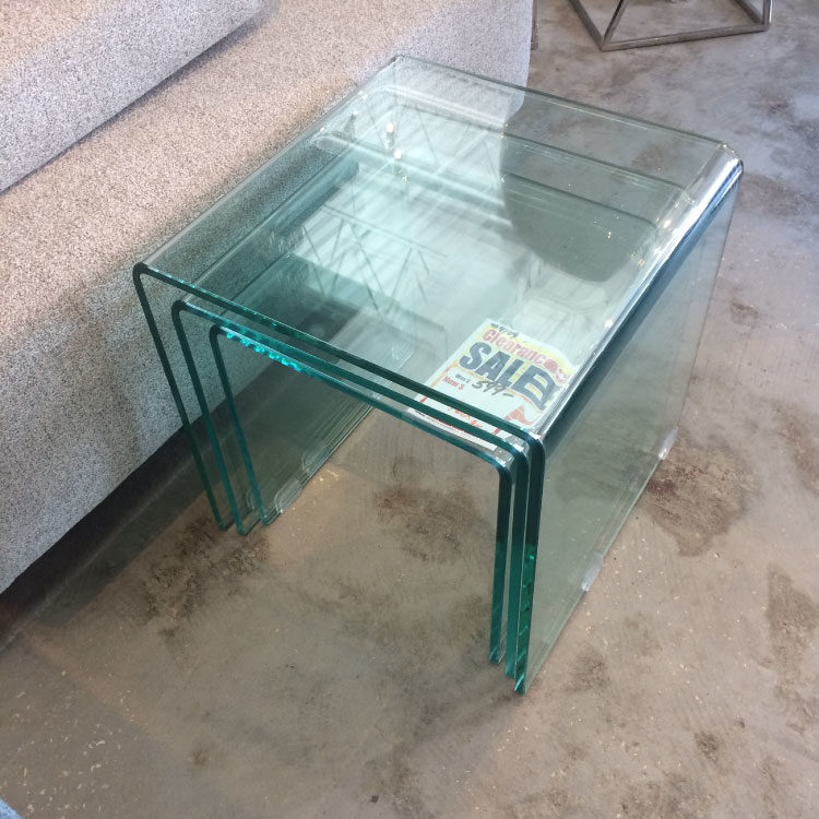 Nested Glass Side Tables