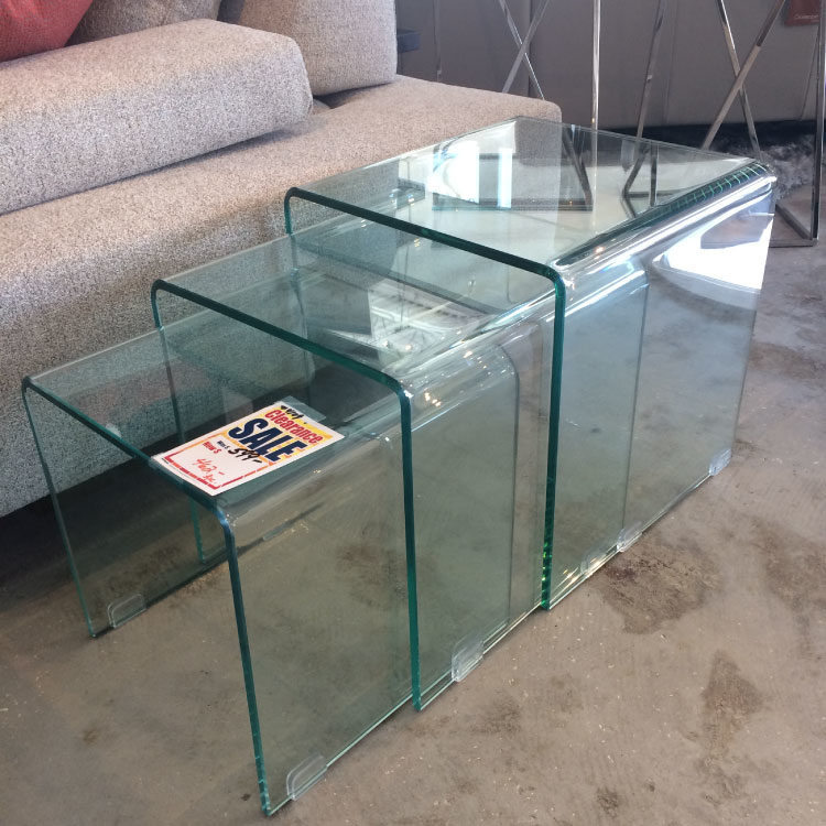 Nesting Glass Side Table