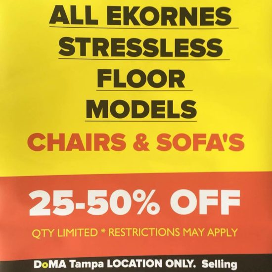 Stressless Clearance - Tampa only