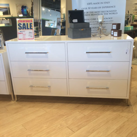 White 6 Drawer Dresser
