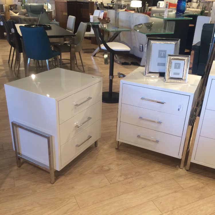 White Lacquered Night Stand