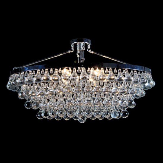 Crystal Drop Light Fixture