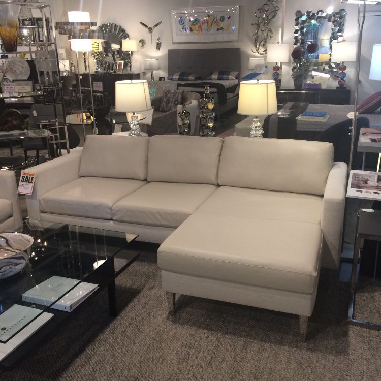 American Leather Sofa with Chaise
