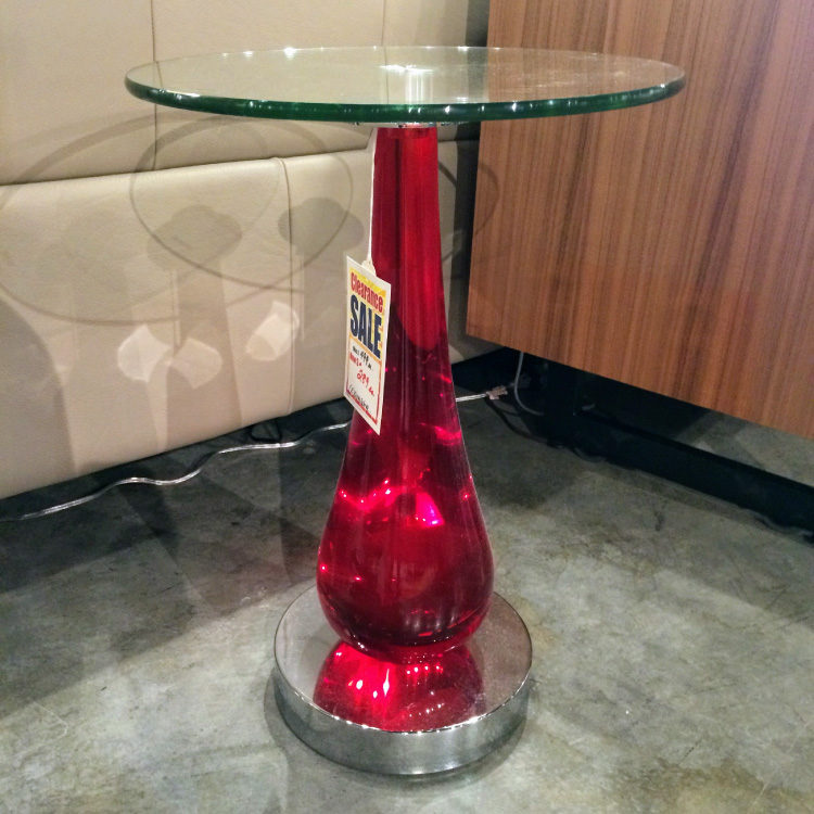 VanTeal-Ruby Accent Table