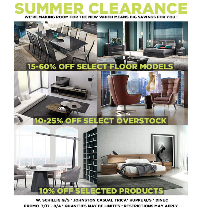 DoMA - Summer Clearance Sale - up to 60% off floor models