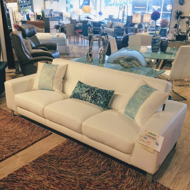Simon Leather Sofa