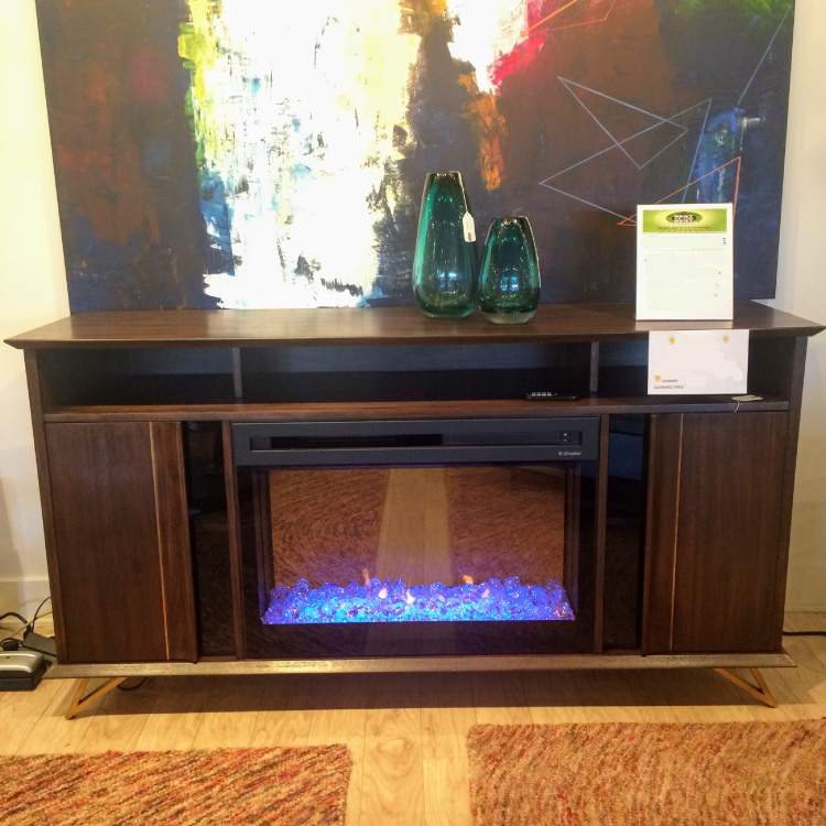 Zion Fireplace Media Console