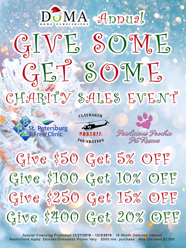 Give Some Get Some at DōMA Home Furnishings