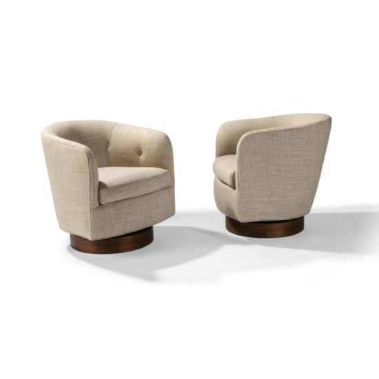 Thayer Coggin Roxy Would Swivel-Tilt Tub Chair