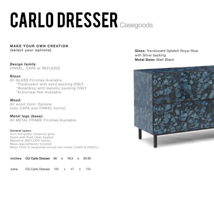 GLASSISIMO Carlo Dresser