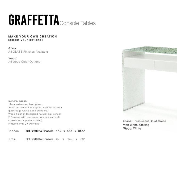 GLASSISIMO Graffetta Console Table