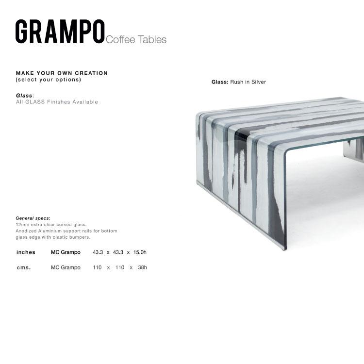 GLASSISIMO Grampo Coffee Table