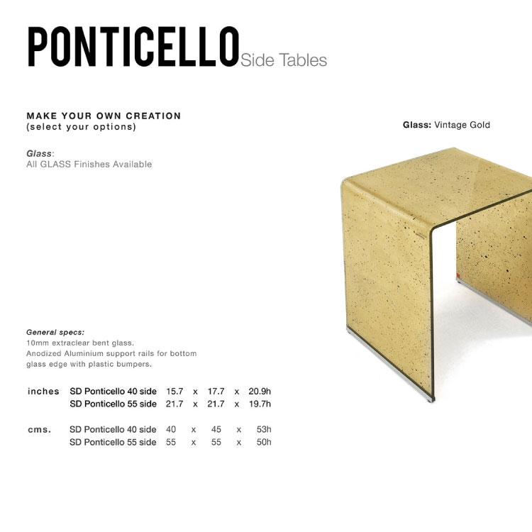 GLASSISIMO Ponticello Side Table