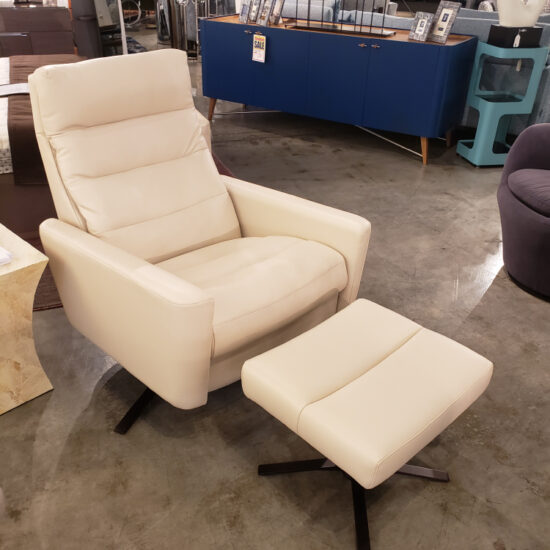 AMERICAN LEATHER - CIRRUS COMFORT RECLINER - WHITE LEATHER
