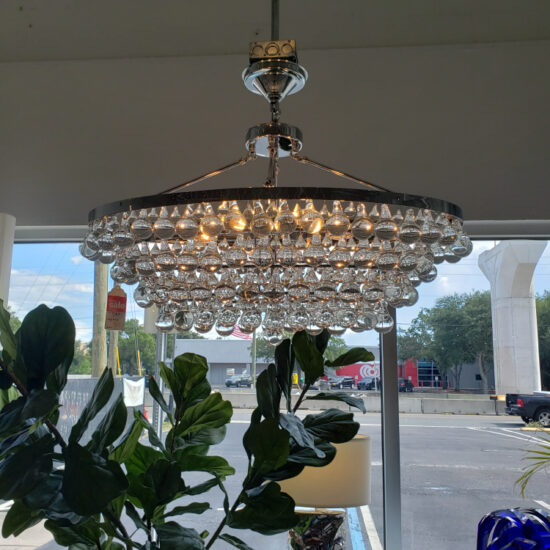 Clear Crystal Drop Chandelier