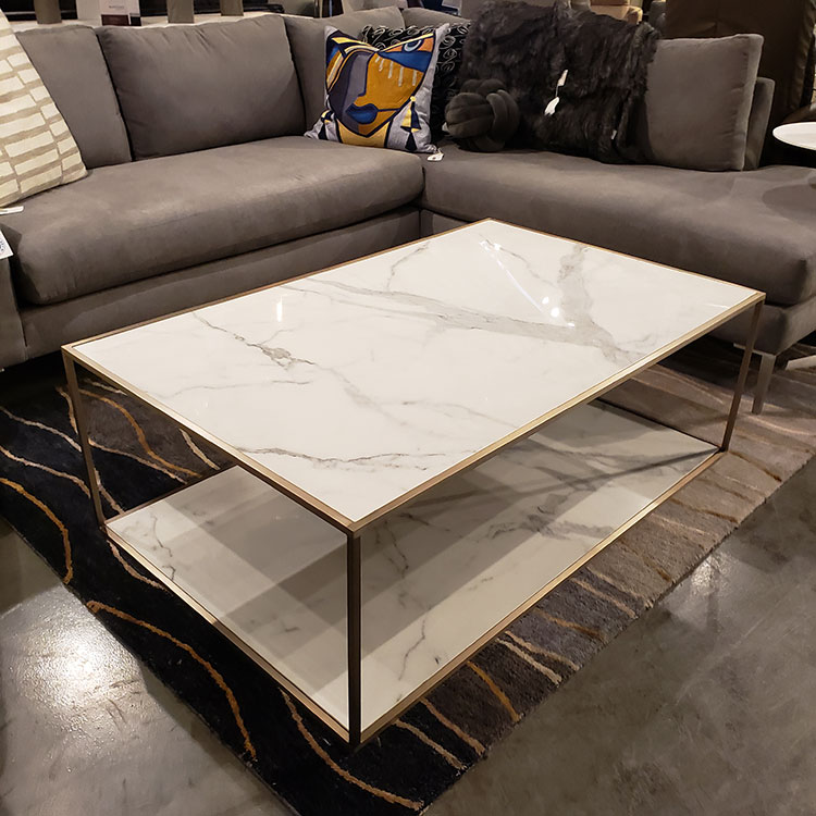 Trica Mix it Up Coffee Table - Calcatta Porcelein