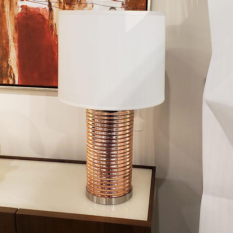 Glass Lamp - Copper Colored