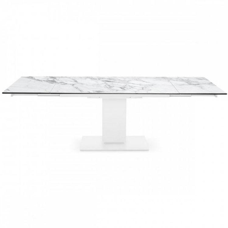 Calligaris Echo Modern Pedestal Base Extending Table White