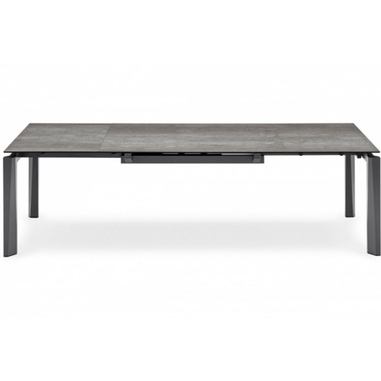 Calligaris Esteso Extendable Dining Table Lead Gray Top