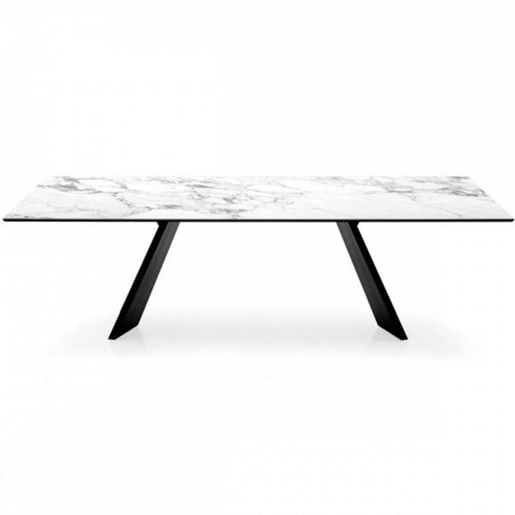 Calligaris Icaro Dining Table White Marble Top