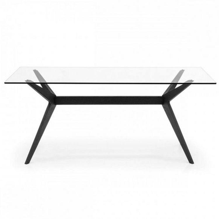 Calligaris Kent Table Rectangle Glass Top