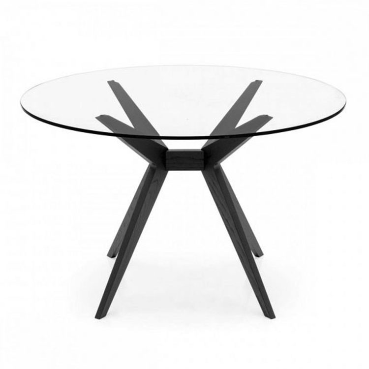 Calligaris Kent Table Round Glass Top