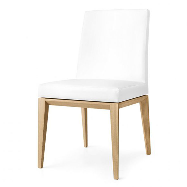Calligaris Bess Contemporary Lowback Dining Chair Wood Legs