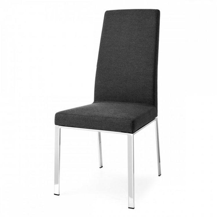 Calligaris Bess Contemporary Highback Dining Chair Black/Metal