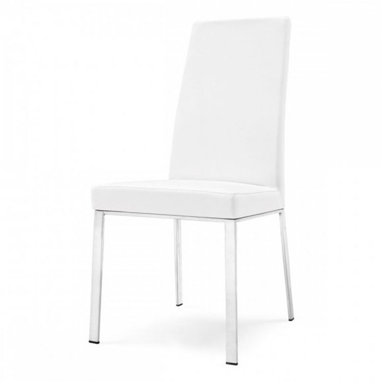 Calligaris Bess Highback Dining Chair Metal/White