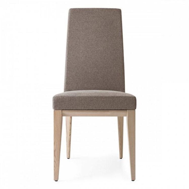 Calligaris Bess Highback Dining Chair Wood Legs