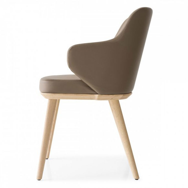Calligaris Foyer Contemporary Dining Armchair Side View