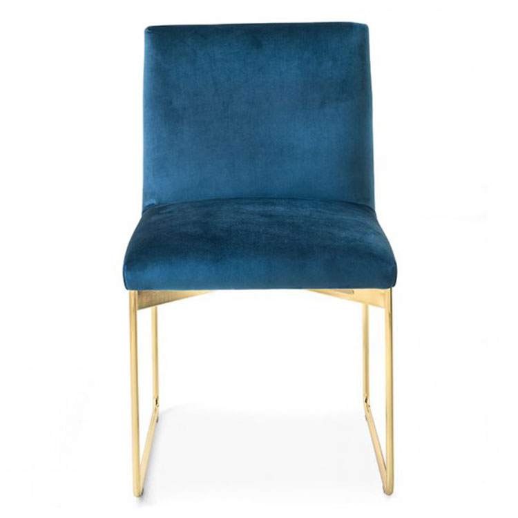 Calligaris Gala Dining Chair Navy Velvet/Gold