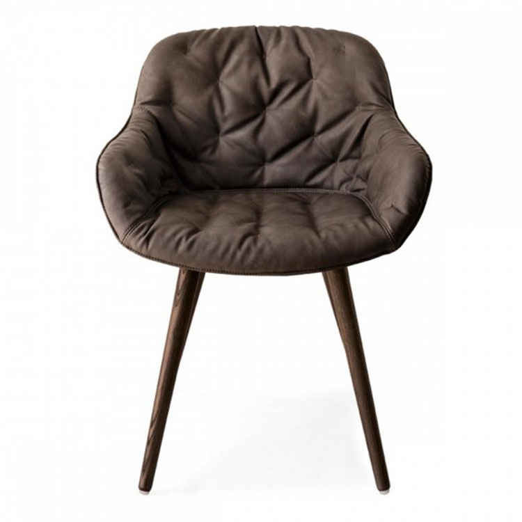 Calligaris Igloo Plush Dining Chair Brown