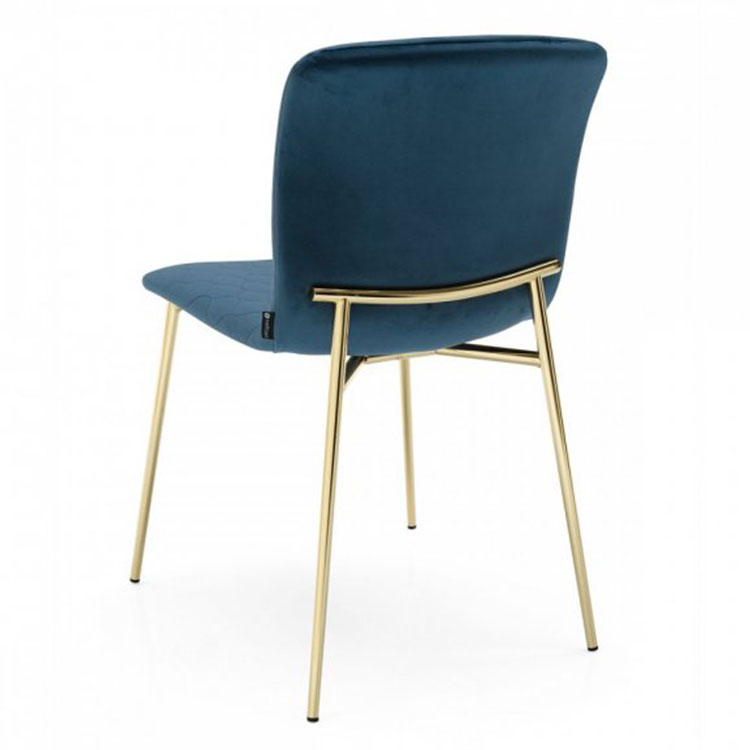 Calligaris Love Dining Chair Back View Blue/Gold