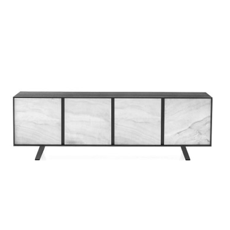 Calligaris Secret Modern Sideboard 4 Ceramic Doors