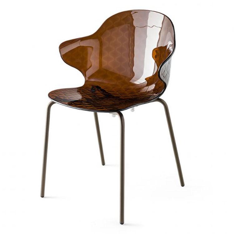 Calligaris Saint Tropez Dining Chair Chocolate