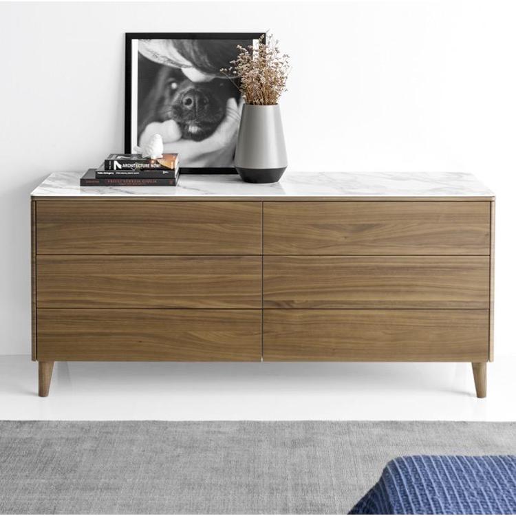 Calligaris Boston 6 Drawer Dresser with Ceramic Top
