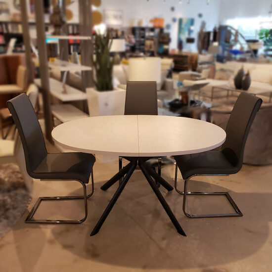 Glove Dining Table and Milo Chairs Set